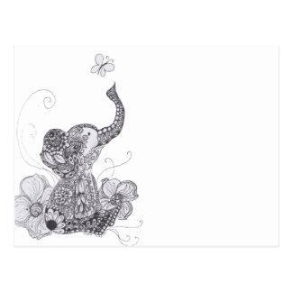 Papillon d'éléphant cartes postales