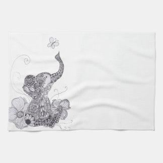Papillon d'éléphant serviette éponge