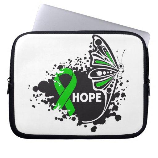 Papillon d'infirmité motrice cérébrale d'espoir housses ordinateur portable