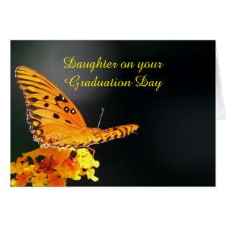 Papillon d'obtention du diplôme de fille carte de vœux