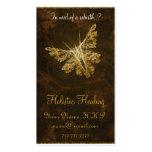 Papillon d'or (model 2) - guérison holistique modèle de carte de visite