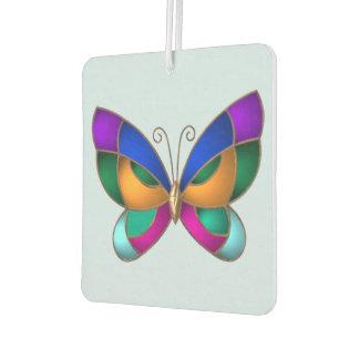 Papillon en verre souillé désodorisant pour voiture