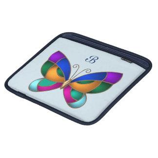 Papillon en verre souillé housse iPad