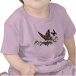 Papillon et papillons polychromes par Al Rio T-shirt