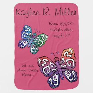 Papillon fait sur commande couverture de bébé