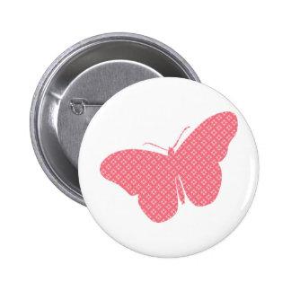 Papillon féminin mignon badge