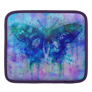 Papillon fou bleu housse iPad