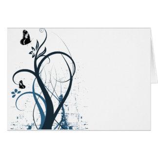 Papillon grunge 2 de remous - bleu cartes