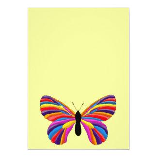 Papillon impossible invitation personnalisable