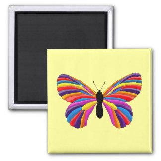 Papillon impossible magnet carré