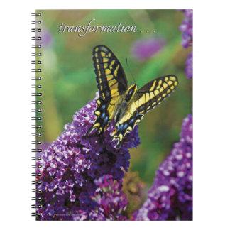 Papillon jaune I - carnet de notes à spirale