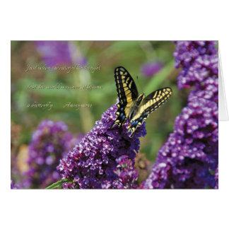 Papillon jaune I - carte de note