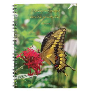 Papillon jaune III - carnet de notes à spirale