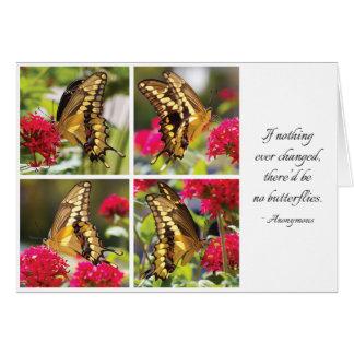 Papillon jaune III - carte de note