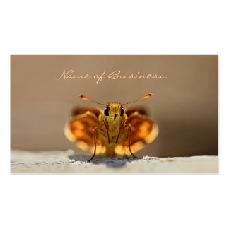Papillon mignon de Brown avec la raison sociale Carte De Visite Standard