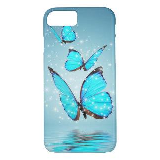 Papillon moderne léger de 3 bleus coque iPhone 7