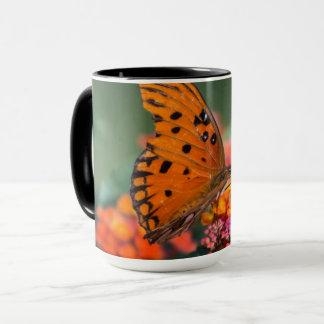 Papillon orange mug