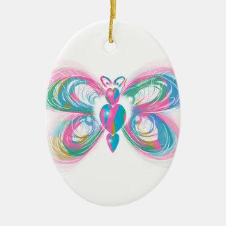 papillon ornement ovale en céramique