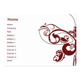 Papillon - potelé carte de visite grand format
