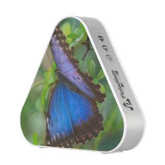 Papillon pourpre bleu tropical haut-parleur bluetooth
