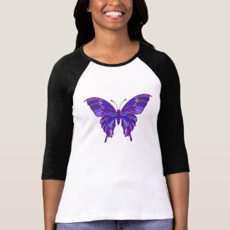 Papillon pourpre/pièce en t fibro de conscience t-shirt