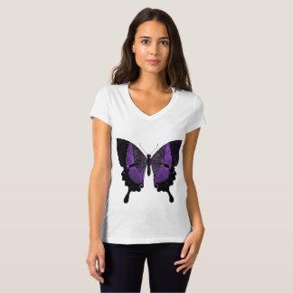 Papillon pourpre V - T-shirt de cou