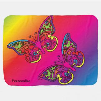Papillon psychédélique couverture de bébé