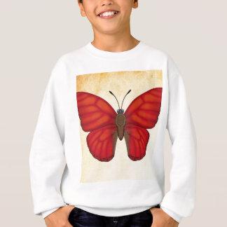 Papillon rouge sang de planeur sweatshirt