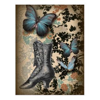 Papillon sophistiqué de chaussure de dentelle de cartes postales