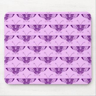 Papillon stylisé d'art déco - pourpre et orchidée tapis de souris