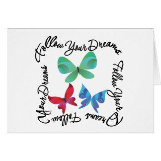 Papillon - suivez vos rêves carte de vœux