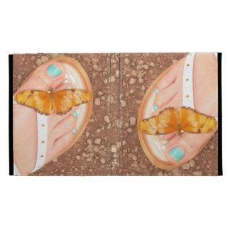 Papillon sur des pieds coque iPad