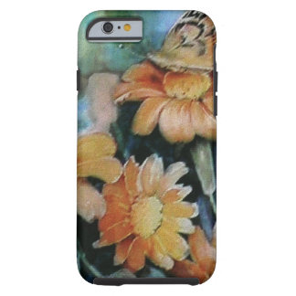 Papillon sur la marguerite coque iPhone 6 tough