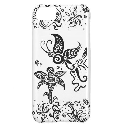 papillon tribal noir et blanc coque pour iphone 5c zazzle. Black Bedroom Furniture Sets. Home Design Ideas