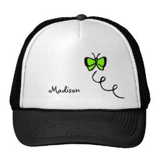 Papillon vert Chartreuse et au néon Casquette