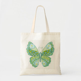 Papillon vert et jaune sac en toile