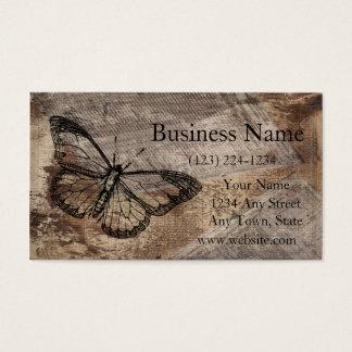 Papillon vintage cartes de visite
