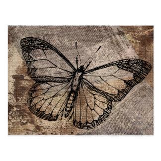 Papillon vintage cartes postales