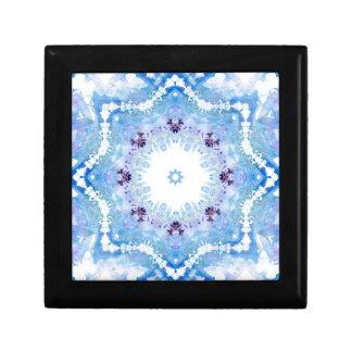 Papillons assez bleus petite boîte à bijoux carrée