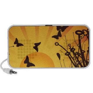 Papillons au lever de soleil haut-parleurs PC