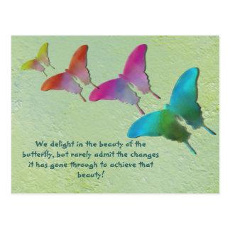 Papillons avec dire carte postale