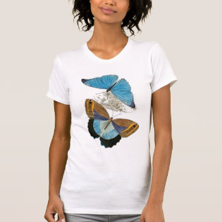 Papillons - bleu t-shirt