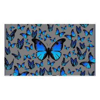 papillons bleus carte de visite standard