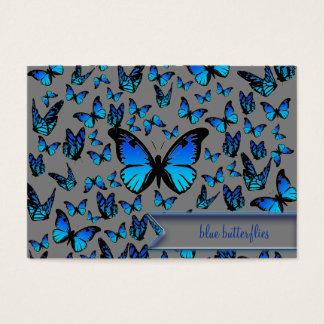 papillons bleus cartes de visite