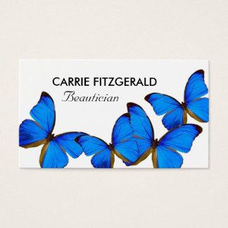 Papillons bleus, esthéticien cartes de visite