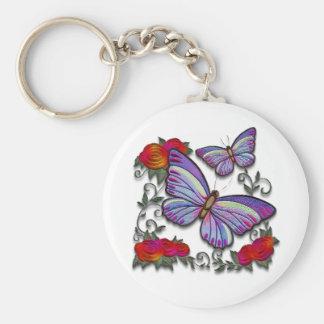 papillons brodés porte-clés
