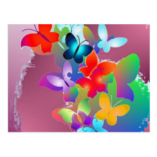 Papillons Carte Postale