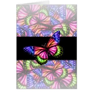 Papillons colorés carte de vœux