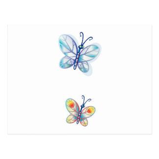 Papillons colorés mignons cartes postales