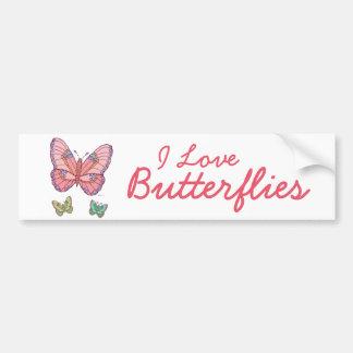 Papillons d'aquarelle autocollant de voiture
